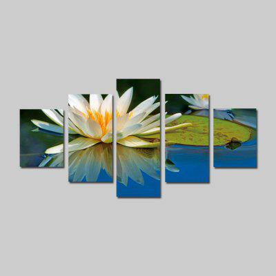 God Painting 1898 Water Lily Flower Stampa su tela 5PCS