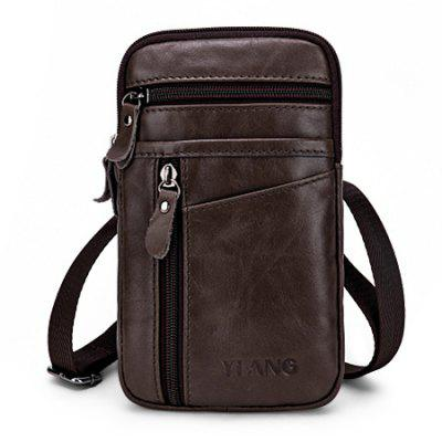 Leisure Genuine Leather Mini Cellphone Waist Bag