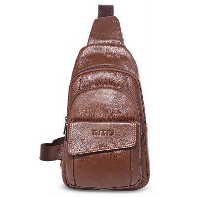 YUANFANVIP Men Casual Genuine Leather Chest Bag