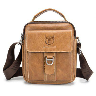 Buy BROWN BULLCAPTAIN Men Stylish Genuine Leather Shoulder Bag for $28.31 in GearBest store