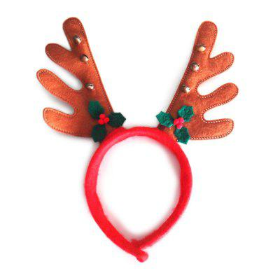 Deerhorn Style Hair Hoop Christmas Creative Headdress 6PCS