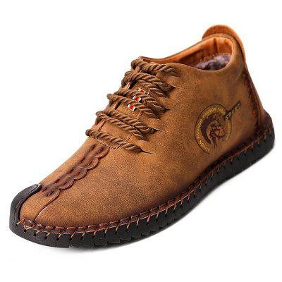 Men\s Versatile Soft Warmest Stitching Casual Leather ShoesCasual Shoes<br>Men\s Versatile Soft Warmest Stitching Casual Leather Shoes<br><br>Closure Type: Lace-Up<br>Contents: 1 x Pair of Shoes, 1 x Box<br>Function: Slip Resistant<br>Lining Material: Velvet<br>Materials: Velvet, Rubber, Leather<br>Occasion: Tea Party, Shopping, Party, Outdoor Clothing, Office, Holiday, Casual, Daily<br>Outsole Material: Rubber<br>Package Size ( L x W x H ): 31.00 x 20.00 x 13.00 cm / 12.2 x 7.87 x 5.12 inches<br>Package weight: 1.0200 kg<br>Pattern Type: Solid<br>Product weight: 0.8600 kg<br>Seasons: Autumn,Winter<br>Style: Modern, Leisure, Fashion, Comfortable, Casual<br>Toe Shape: Round Toe<br>Type: Casual Leather Shoes<br>Upper Material: Leather