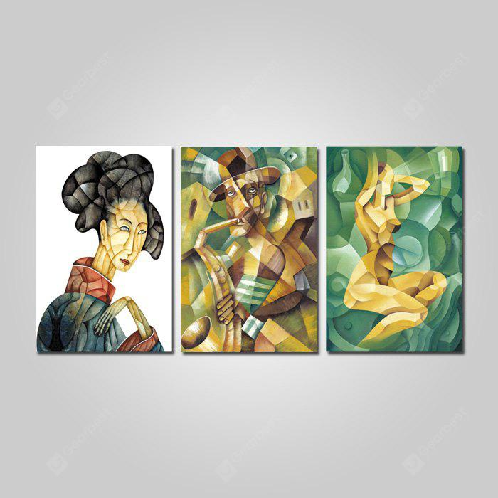 God Painting Abstract Figure Style Stampa Canvas Decor 3PCS