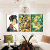 God Painting Abstract Figure Style Stampa Canvas Decor 3PCS - COLORI MISTI