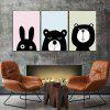 God Painting Nordic Cartoon Animals Stampa Decor 3PCS - COLORI MISTI