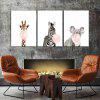 God Painting Nordic Style Cute Animals Stampa Decor Canvas 3PCS - COLORI MISTI