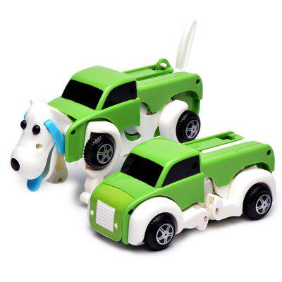 Creative Automatic Deformation Dog Wind-up ToyNovelty Toys<br>Creative Automatic Deformation Dog Wind-up Toy<br><br>Features: Cartoon, Creative Toy<br>Materials: Plastic<br>Package Contents: 1 x Car Toy<br>Package size: 14.00 x 10.00 x 14.00 cm / 5.51 x 3.94 x 5.51 inches<br>Package weight: 0.2000 kg<br>Product size: 13.00 x 6.00 x 6.50 cm / 5.12 x 2.36 x 2.56 inches<br>Product weight: 0.1150 kg<br>Series: Entertainment,Fantasy,Fashion,Lifestyle<br>Theme: Animals,Car