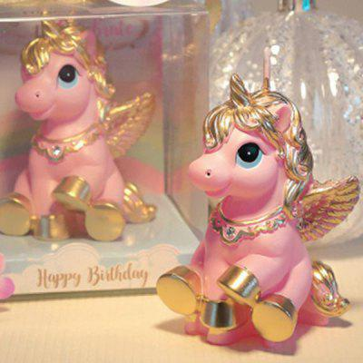 Creative Horse Style Candle Smokeless Cake Topper 1PC