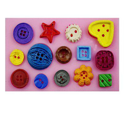 Cute Buttons Pattern Cake Candy Mold Silicone Bakery ToolCake Molds<br>Cute Buttons Pattern Cake Candy Mold Silicone Bakery Tool<br><br>Material: Silicone<br>Package Contents: 1 x Cake Mold<br>Package size (L x W x H): 13.00 x 8.50 x 1.50 cm / 5.12 x 3.35 x 0.59 inches<br>Package weight: 0.0800 kg<br>Product weight: 0.0700 kg<br>Type: Bakeware