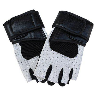 Male PU Leather Breathable Sports Half-finger Gloves
