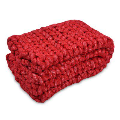 Soft Warm Knitted Chunky BlanketBlankets &amp; Throws<br>Soft Warm Knitted Chunky Blanket<br><br>Category: Blanket<br>For: All<br>Material: Polyester fibre<br>Occasion: Bedroom, Living Room<br>Package Contents: 1 x Blanket<br>Package size (L x W x H): 41.00 x 21.00 x 41.00 cm / 16.14 x 8.27 x 16.14 inches<br>Package weight: 0.4000 kg<br>Product size (L x W x H): 60.00 x 2.00 x 60.00 cm / 23.62 x 0.79 x 23.62 inches<br>Product weight: 0.3000 kg<br>Type: Decoration, Comfortable, Leisure, Fashion