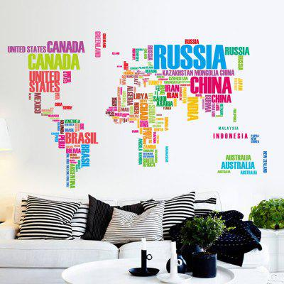 English alphabet world map wall sticker 1104 online shopping english alphabet world map wall sticker gumiabroncs Image collections