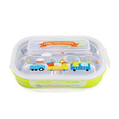 Lunch Box Food Storage Container with Spoon / Chopsticks