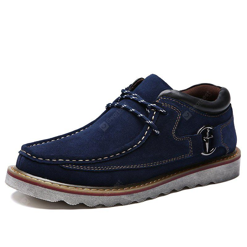 Male Soft Medium Top Thickened Retro Patent Leather Shoes