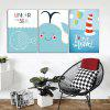 God Painting Cartoon Pattern Frameless Canvas Print 3PCS - COLORMIX