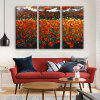 E - HOME Inner Framed Flowers Canvas Print 3pcs - COLORMIX