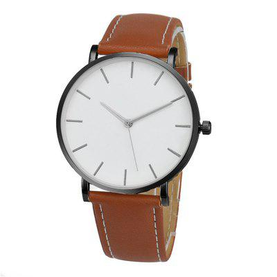 MIGEER 4132 Casual Leather Band Men Quartz Watch