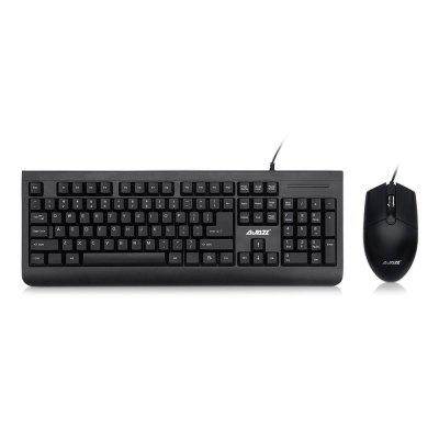 Ajazz x1180 Wired Metal Membrane Keyboard with Mouse