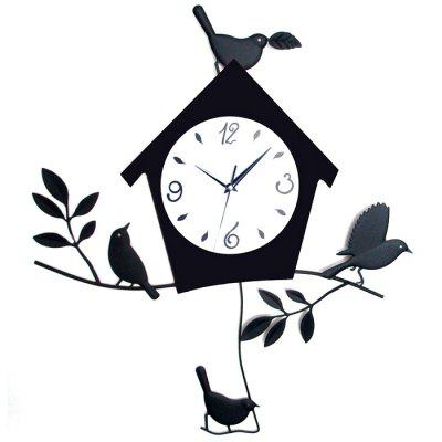 Timelike European Bird House Style reloj de pared simple