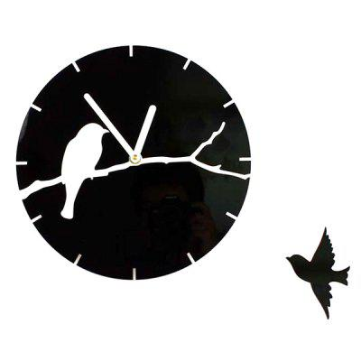 Timelike T5077 Acrylic Bird Branch Super Quiet Reloj de pared