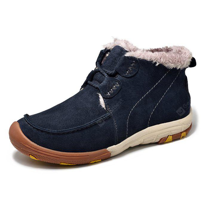 Men's Warmest Soft Outdoor Ankle Casual Leather Shoes
