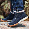 Men's Warmest Soft Outdoor Ankle Casual Leather Shoes - BLUE