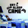 English Words Game Console Pattern Wall Sticker - BLACK