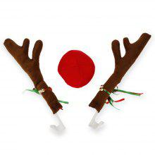 Faddish Christmas Antlers Nose for Car Decoration
