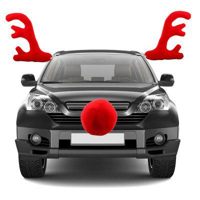 Christmas Car Decoration Red Antlers