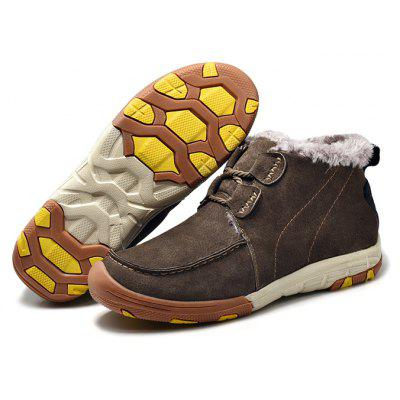 Men's Warmest Soft Outdoor Knöchel Casual Lederschuhe