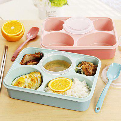 Portable Meal Box 5 in 1 Leak-proof Lunch Container 1PC