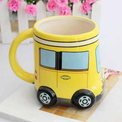 Cartoon Bus Ceramic Mug Milk Coffee Cup