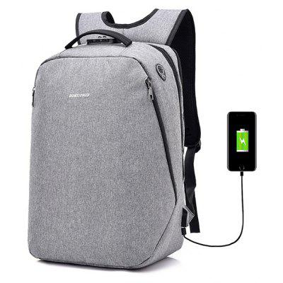 Buy GRAY Leisure Anti-theft Lock Laptop Backpack with USB Port for $22.99 in GearBest store