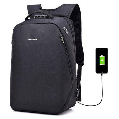 Buy BLACK Leisure Anti-theft Lock Laptop Backpack with USB Port for $22.99 in GearBest store