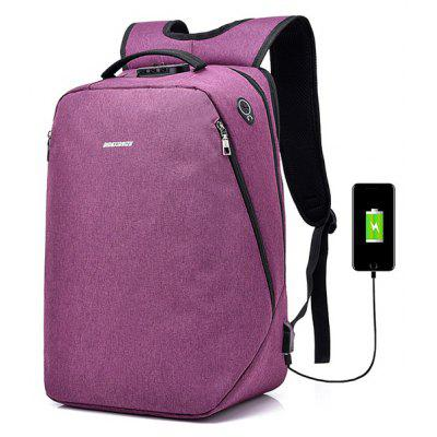 Buy PURPLE Leisure Anti-theft Lock Laptop Backpack with USB Port for $22.99 in GearBest store