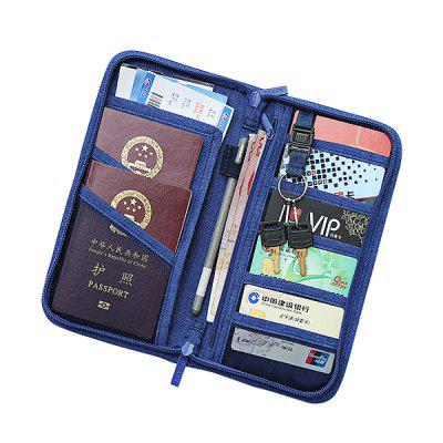 Polyester Pure Color Passport Holder