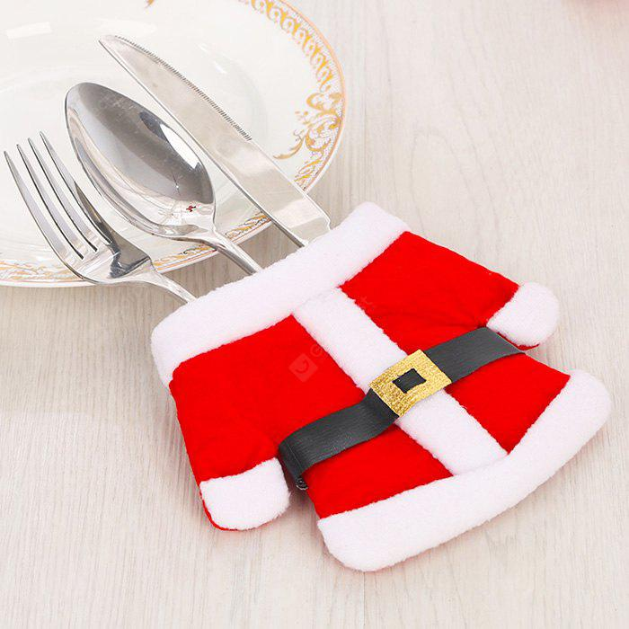 Christmas Little Clothes Tableware Knife and Fork Bag