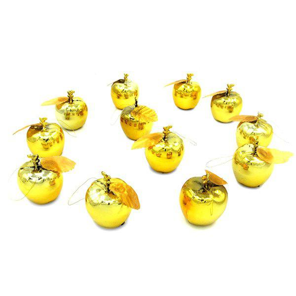 PVC Christmas Decor Apple Design Pendant 12PCS