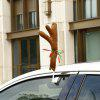 Faddish Christmas Antlers Nose for Car Decoration - DEEP BROWN