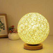 Creative Twine Hollowed-out Table Lamp with Light Source