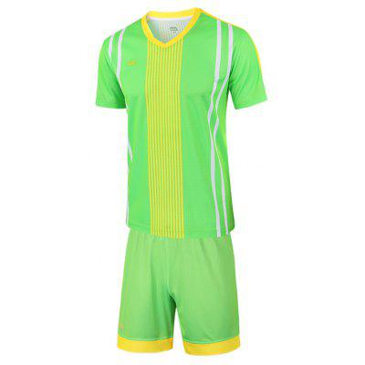MIIRACER Male Trendy Soccer T-shirt Shorts Sports Suit