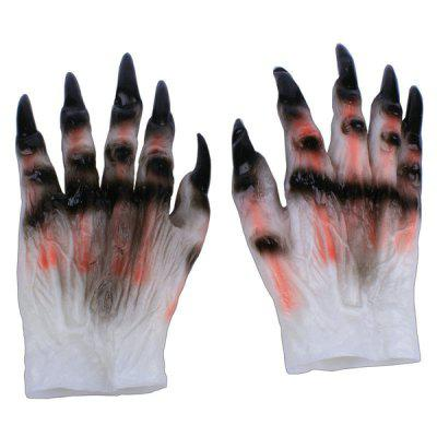 MCYH Halloween Latex Monster Ghost Claw Gloves