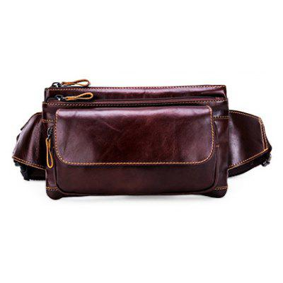 YUANFANVIP Stylish Genuine Leather Waist Bag