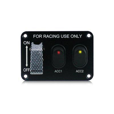 YKT - AB031 12V Motor Racing 3 Switch Panels