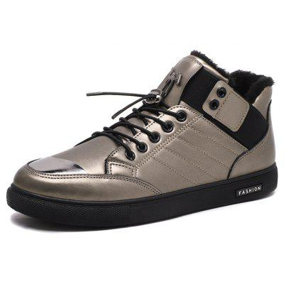 CTSmart Male Warmest Ankle-top Casual Leather ShoesCasual Shoes<br>CTSmart Male Warmest Ankle-top Casual Leather Shoes<br><br>Brand: CTSmart<br>Closure Type: Lace-Up, Buckle Strap<br>Contents: 1 x Pair of Shoes, 1 x Box<br>Function: Slip Resistant<br>Lining Material: Cotton Fabric,Fur<br>Materials: PU, Rubber, Cotton, Fur<br>Occasion: Tea Party, Sports, Shopping, Riding, Party, Outdoor Clothing, Holiday, Casual, Daily<br>Outsole Material: Rubber<br>Package Size ( L x W x H ): 31.00 x 22.00 x 11.00 cm / 12.2 x 8.66 x 4.33 inches<br>Package weight: 0.7000 kg<br>Pattern Type: Solid<br>Product weight: 0.5500 kg<br>Seasons: Autumn,Winter<br>Style: Modern, Leisure, Fashion, Casual, Comfortable<br>Toe Shape: Round Toe<br>Type: Casual Leather Shoes<br>Upper Material: PU