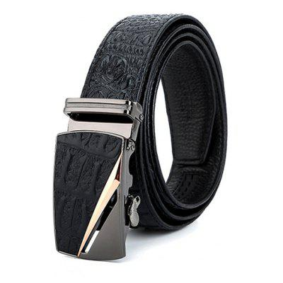 Male Cool Genuine Leather Automatic Buckle Waist Belt