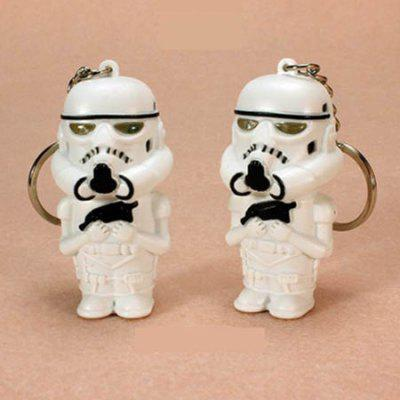 Armed White Soldier with LED Light Voice Key Chain 1pcKey Chains<br>Armed White Soldier with LED Light Voice Key Chain 1pc<br><br>Design Style: Fashion<br>Gender: Unisex<br>Materials: ABS<br>Package Contents: 1 x Key Chain<br>Package size: 5.00 x 5.00 x 2.10 cm / 1.97 x 1.97 x 0.83 inches<br>Package weight: 0.0262 kg<br>Product size: 2.50 x 2.00 x 6.50 cm / 0.98 x 0.79 x 2.56 inches<br>Product weight: 0.0260 kg<br>Stem From: Europe and America<br>Theme: Military