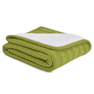 Simple Pure Color Thickening Knitted Soft Blanket