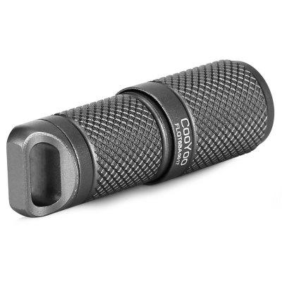 CooYoo USB LED Flashlight Mini SizeLED Flashlights<br>CooYoo USB LED Flashlight Mini Size<br><br>Battery Included or Not: Yes<br>Battery Quantity: 1<br>Battery Type: 10180<br>Beam Distance: 50-100m<br>Body Material: Stainless Steel<br>Brand: CooYoo<br>Emitters: Cree XP-G2<br>Emitters Quantity: 1<br>Feature: Portable, Waterproof<br>Flashlight size: Mini<br>Flashlight Type: Tiny<br>Function: Walking, Household Use, Hiking, Exploring, Bike<br>Impact Resistance: 1.5M<br>LED Lifespan: 50000h<br>Luminous Flux: 130LM max<br>Luminous Intensity: 910cd<br>Mode: 2 (High &gt; Low)<br>Package Contents: 1 x LED Flashlight, 1 x English User Manual, 1 x USB Cable, 1 x Keyring, 2 x O-ring<br>Package size (L x W x H): 7.00 x 3.50 x 12.50 cm / 2.76 x 1.38 x 4.92 inches<br>Package weight: 0.0380 kg<br>Power Source: Battery,USB<br>Product size (L x W x H): 1.50 x 1.50 x 4.70 cm / 0.59 x 0.59 x 1.85 inches<br>Product weight: 0.0120 kg<br>Rechargeable: Yes<br>Waterproof Standard: IPX-8 Standard Waterproof<br>Working Voltage: 3 - 4.2V