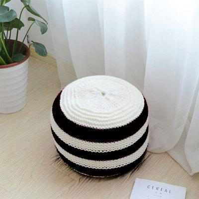 Comfortable Cotton Knit Spliced Cushion